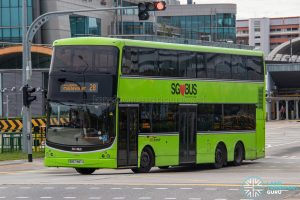 Bus 28 - SBS Transit Volvo B9TL CDGE (SBS7487J)