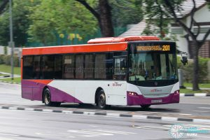 Bus 201 - SBS Transit Scania K230UB Euro IV (SBS8067G)