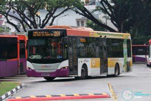 Bus 201 - SBS Transit Scania K230UB Euro V (SBS8601P)