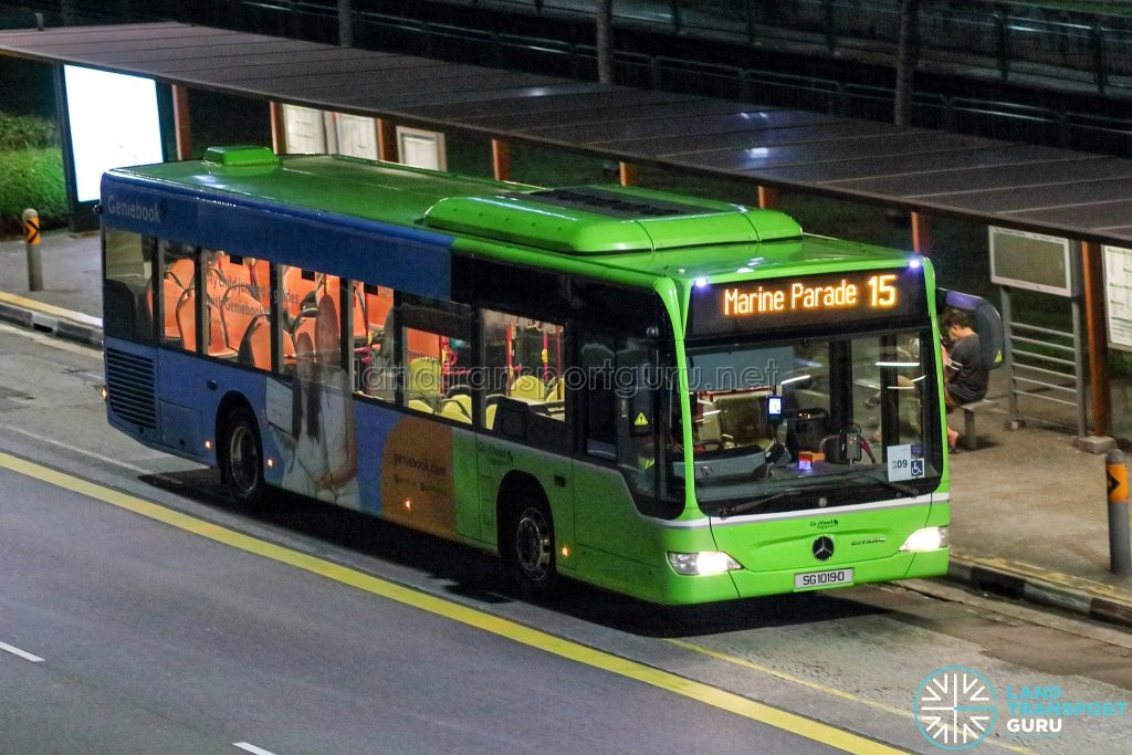 Bus 15 - Go-Ahead Mercedes-Benz Citaro (SG1019D)