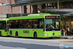Bus 75 - SMRT Buses Mercedes-Benz OC500LE (SMB110B)