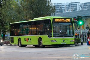 Bus 293 - SBS Transit Mercedes-Benz Citaro (SG1124H)