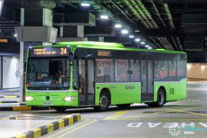 Bus 24 - SBS Transit Mercedes-Benz Citaro (SG1236T)