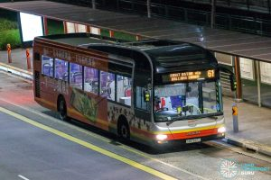 Bus 61 - SMRT Buses MAN A22 (SMB1587C)