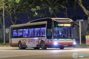 Ferry Service - SMRT Buses MAN A22 (SMB1648K)