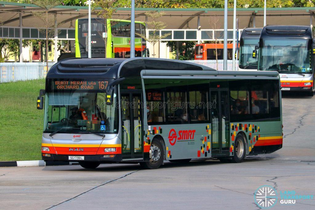 Bus 167 - SMRT Buses MAN A22 (SG1738L)