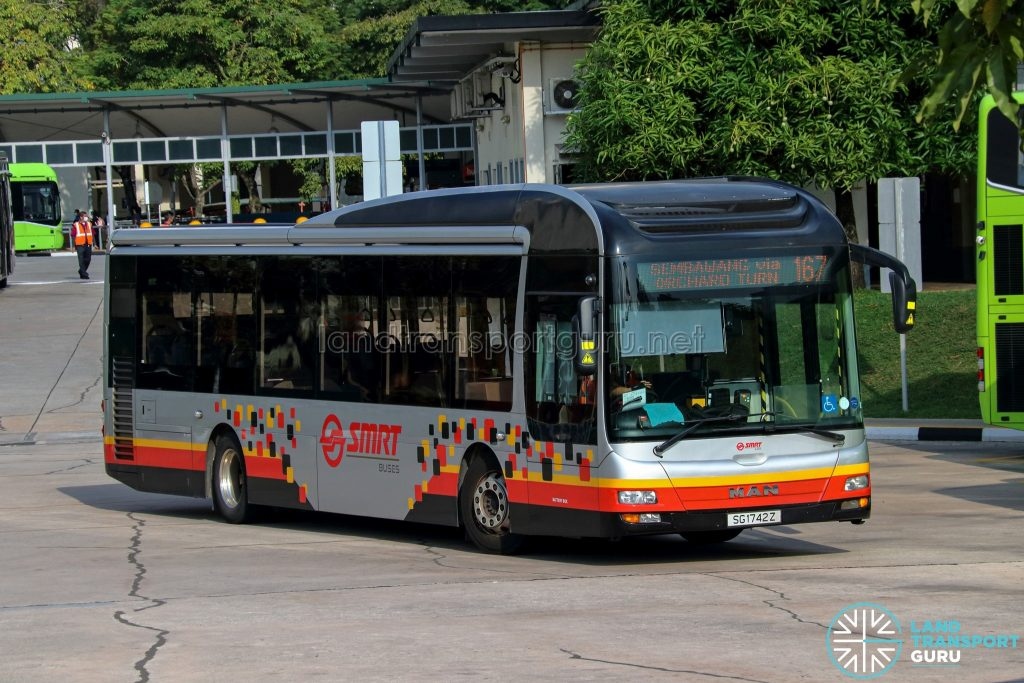 Bus 167 - SMRT Buses MAN A22 (SG1742Z)