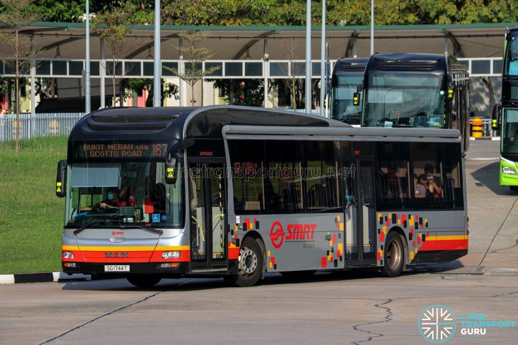 Bus 167 - SMRT Buses MAN A22 (SG1744T)