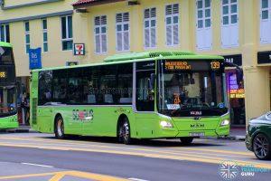 Bus 139 - SBS Transit MAN A22 Euro 6 (SG1790J)