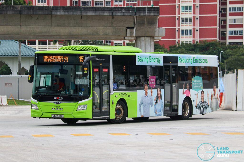 Bus 15 - Go-Ahead Singapore MAN A22 Euro 6 (SG1798M)