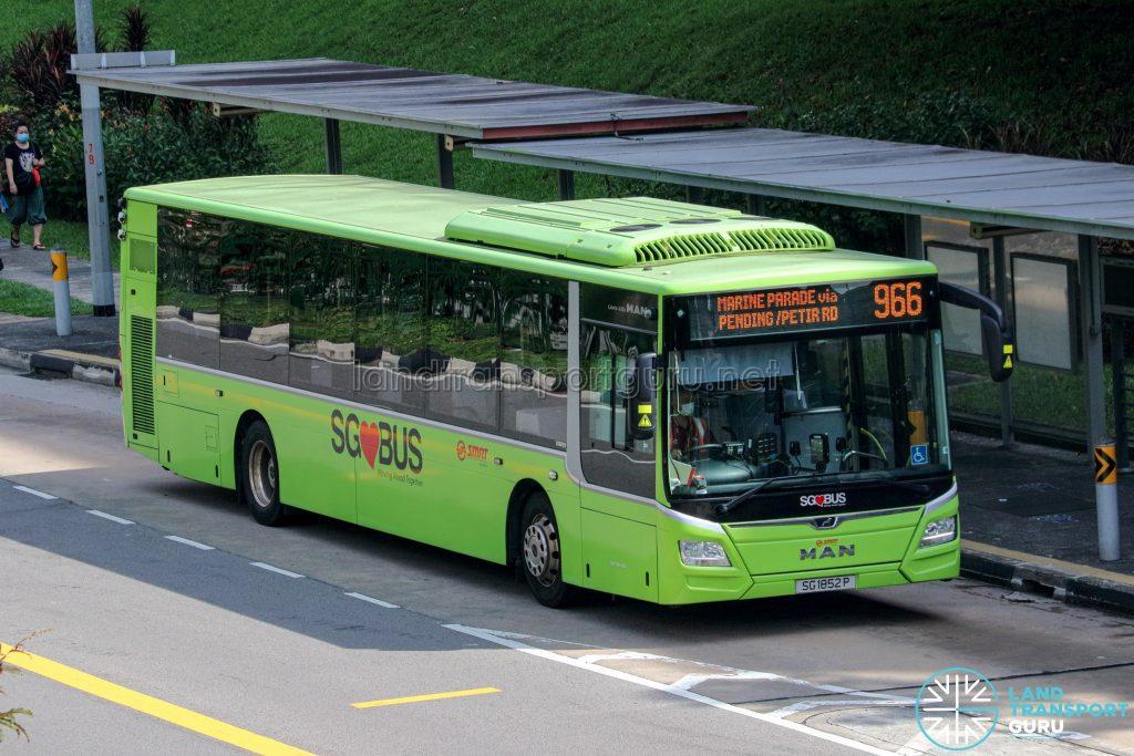 Bus 966 - SMRT Buses MAN A22 Euro 6 (SG1852P)