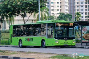 Bus 974 - SBS Transit MAN A22 Euro 6 (SG1885U)
