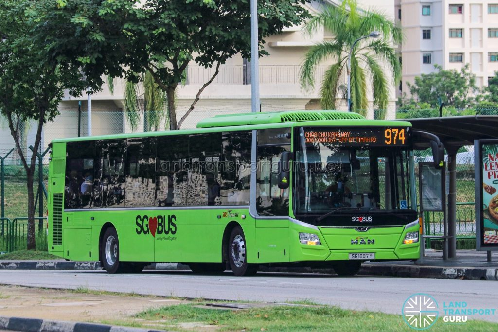 Bus 974 - SBS Transit MAN A22 Euro 6 (SG1887P)