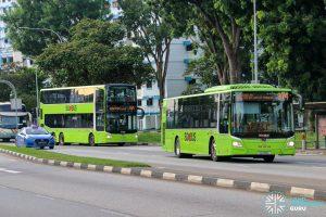 SBS Transit Service 974 buses bunching