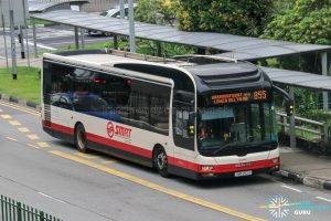 Bus 855 - SMRT Buses MAN A22 (SMB252A)