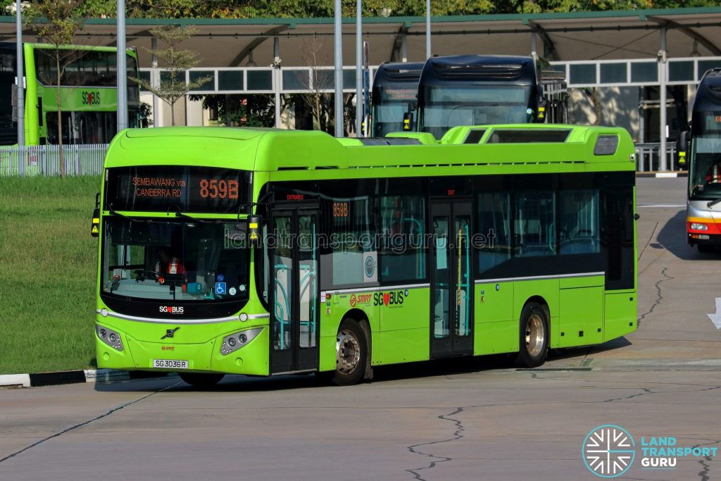 Bus 859B - SMRT Buses Volvo B5LH (SG3036R)