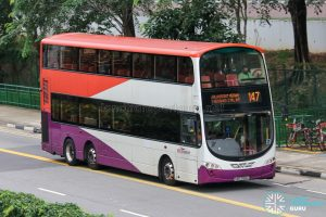 Bus 147 - SBS Transit Volvo B9TL Wright (SBS3168G)