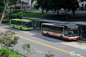 Bus 966 bunching: SMB332C & SG1852P
