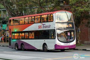 Bus 74 - SBS Transit Volvo B9TL Wright (SBS3768A)