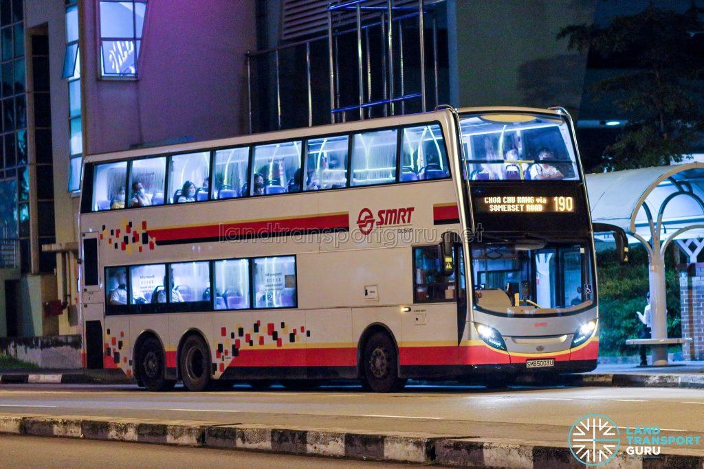 Bus 190 - SMRT Buses Alexander Dennis Enviro500 (SMB5003U)