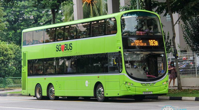 Bus 183B - Tower Transit Volvo B9TL Wright (SG5007L)