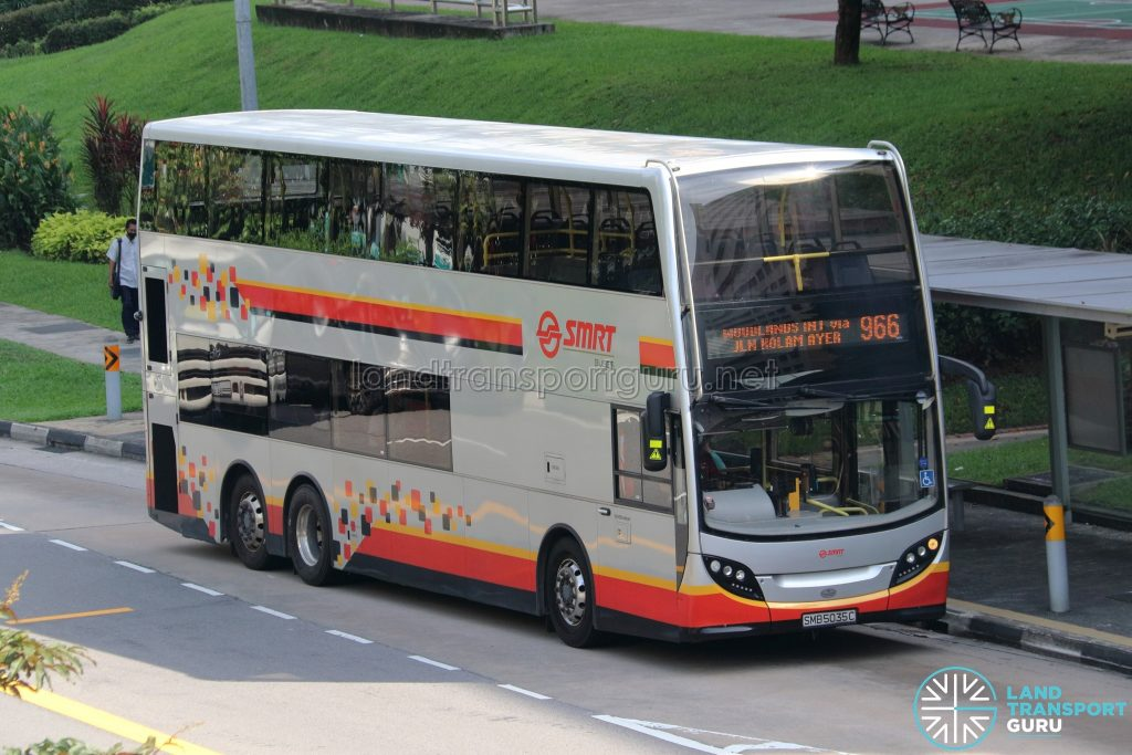 Bus 966 - SMRT Buses Alexander Dennis Enviro500 (SMB5035C)