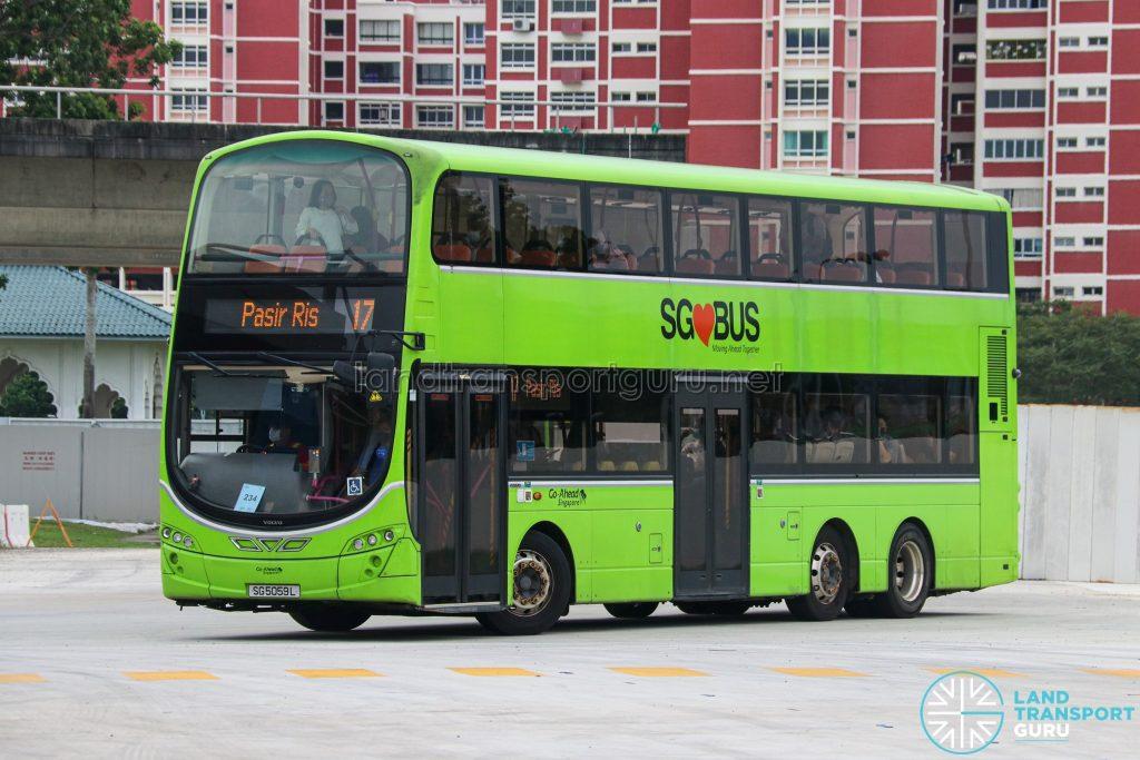 Bus 17 - Go-Ahead Singapore Volvo B9TL Wright (SG5059L)
