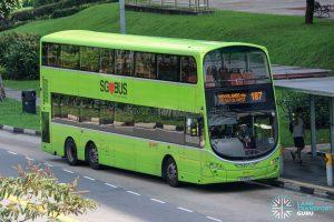 Bus 187 - SMRT Buses Volvo B9TL Wright (SG5154U)