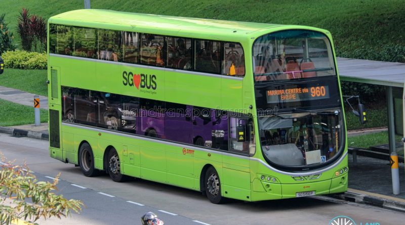 Bus 960 - SMRT Buses Volvo B9TL Wright (SG5156P)