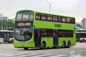 Bus 911T - SMRT Buses Volvo B9TL Wright (SG5168E)