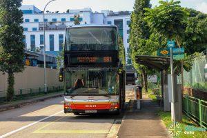 Service 981 at Bus Stop 47199 - Bef Senoko Dr, Senoko Loop