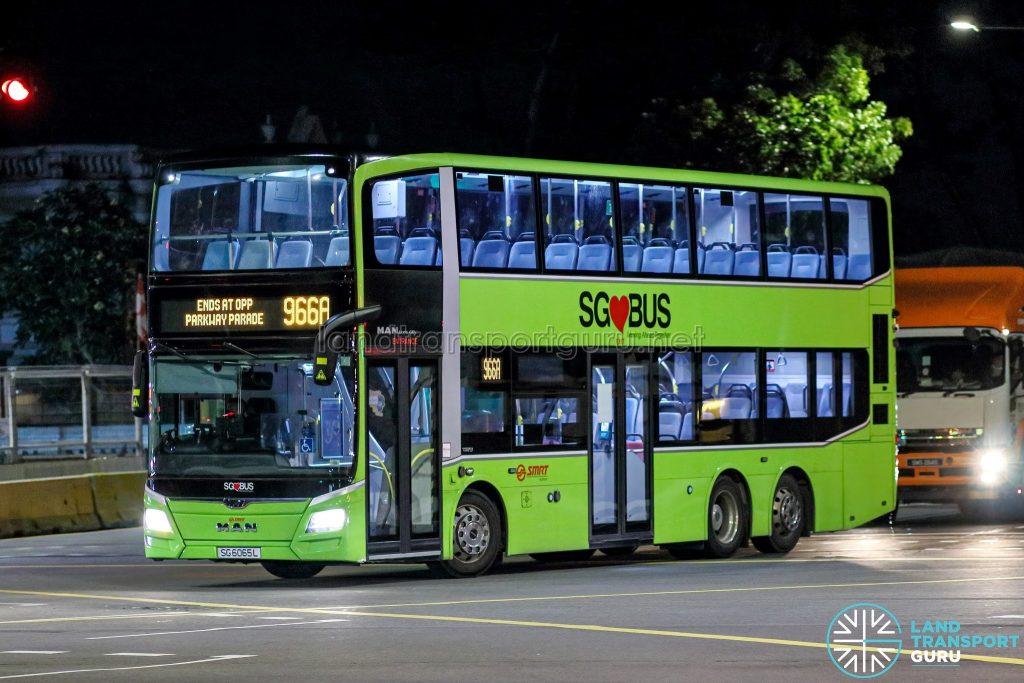 Bus 966A - SMRT Buses MAN A95 Euro 6 (SG6055R)