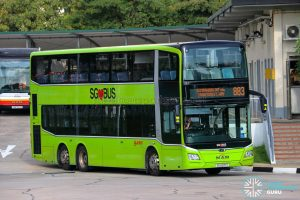 Bus 883 - SMRT Buses MAN A95 Euro 6 (SG6071T)