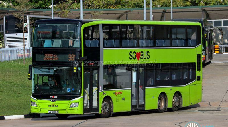 Bus 981 - SMRT Buses MAN A95 Euro 6 (SG6080S)