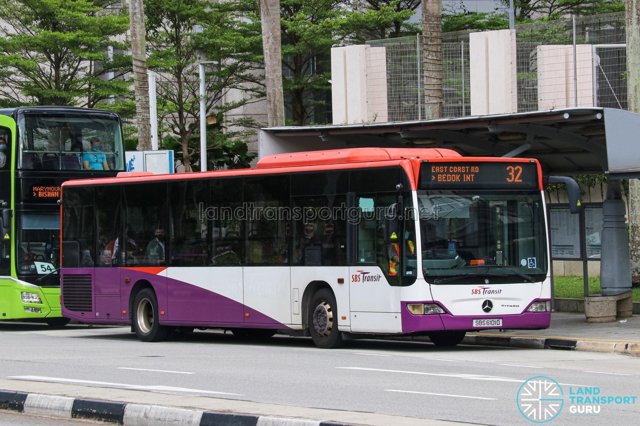 Bus 32 - SBS Transit Mercedes-Benz Citaro (SBS6101D)