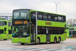 Bus 901M - SMRT Buses MAN A95 Euro 6 (SG6111L)