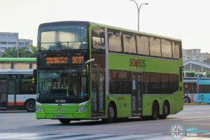 Bus 901M - SMRT Buses MAN A95 Euro 6 (SG6112J)