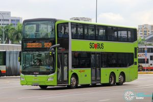 Bus 912A - SMRT Buses MAN A95 Euro 6 (SG6124A)