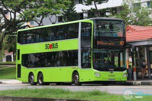 Bus 47 - SBS Transit MAN A95 Euro 6 (SG6167B)