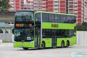 Bus 88 - SBS Transit MAN A95 Euro 6 (SG6168Z)