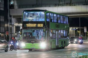 Bus 883B - SMRT Buses MAN A95 Euro 6 (SG6192C)