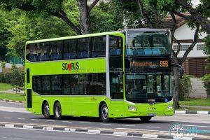 Bus 95B - SBS Transit MAN A95 Euro 6 (SG6281D)