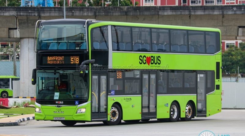 Express 518 – Go-Ahead Singapore MAN A95 (Euro 6; 3-Door) (SG6283Z)