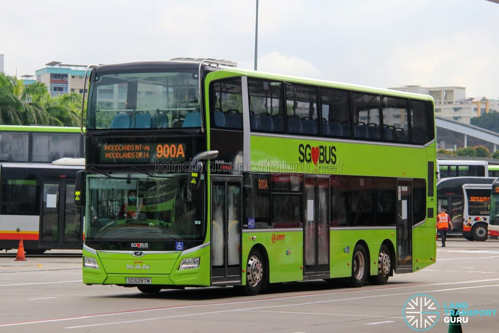 Bus 900A - SMRT Buses MAN A95 (Euro 6; 3-Door) (SG6287M)