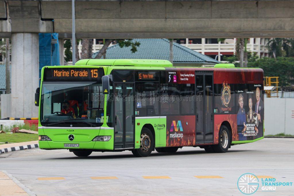 Bus 15 - Go-Ahead Singapore Mercedes-Benz Citaro (SBS6527J)