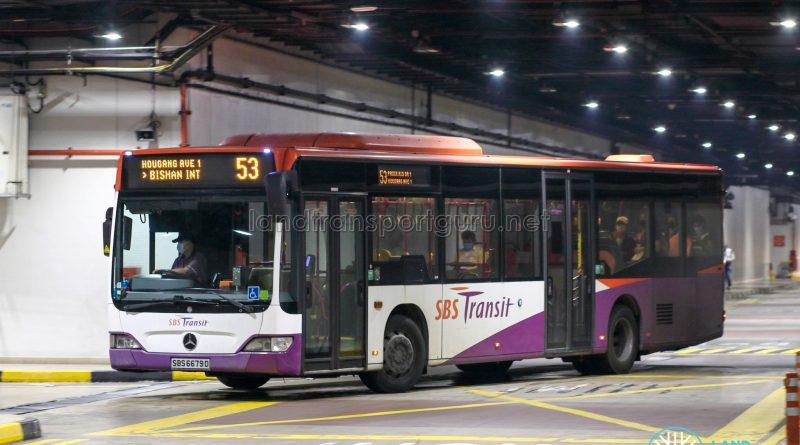 Bus 53 - SBS Transit Mercedes-Benz Citaro (SBS6679D)