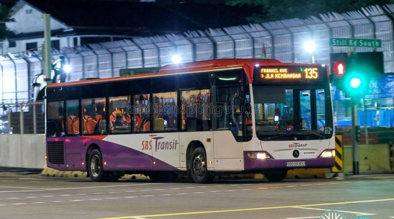 Bus 135 - SBS Transit Mercedes-Benz Citaro (SBS6690U)