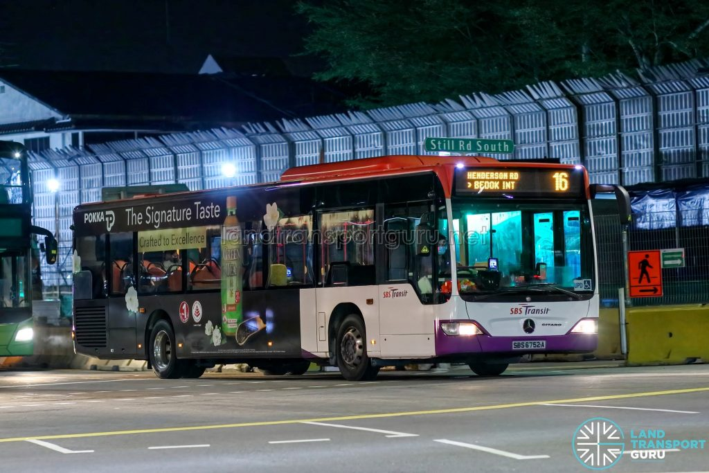 Bus 16 - SBS Transit Mercedes-Benz Citaro (SBS6752A)