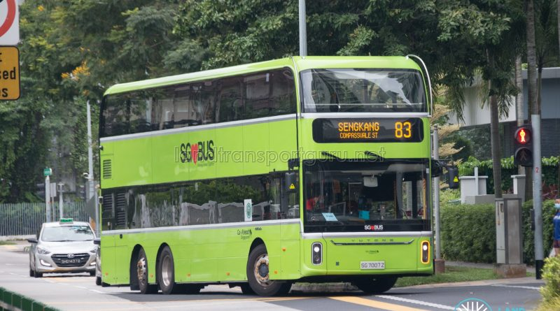 Bus 83: Go-Ahead Yutong E12DD (SG7007Z)
