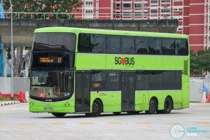 Bus 21 - SBS Transit Volvo B9TL CDGE (SBS7303G)